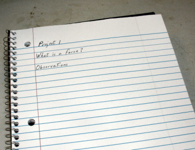 Physics Journal entry