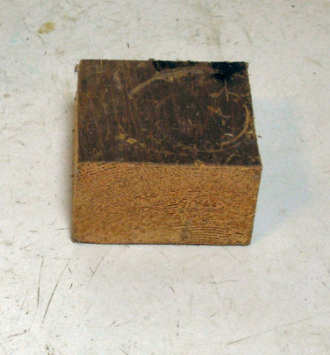 wood block on table